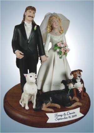 Hillbilly Wedding Cake Toppers